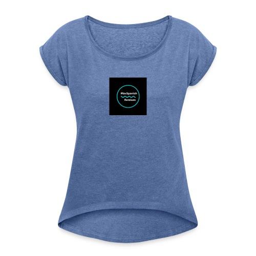 MaxSpanish - Vrouwen T-shirt met opgerolde mouwen