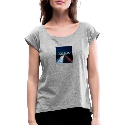 Ottobror 1 - T-shirt med upprullade ärmar dam