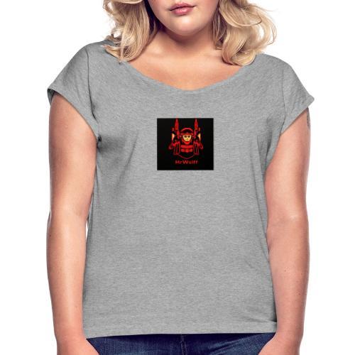 HrWulff Gaming Logo - Dame T-shirt med rulleærmer