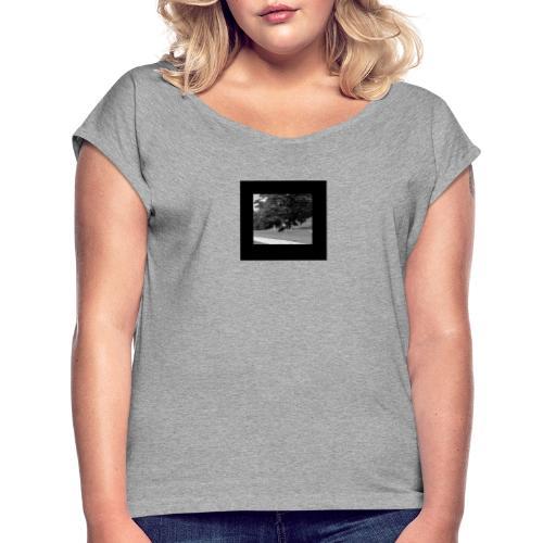 MOTOCYCLE - Frauen T-Shirt mit gerollten Ärmeln