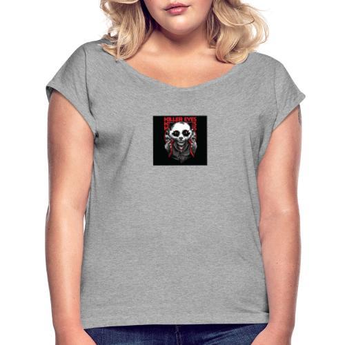 Unity Panda clothes - T-skjorte med rulleermer for kvinner
