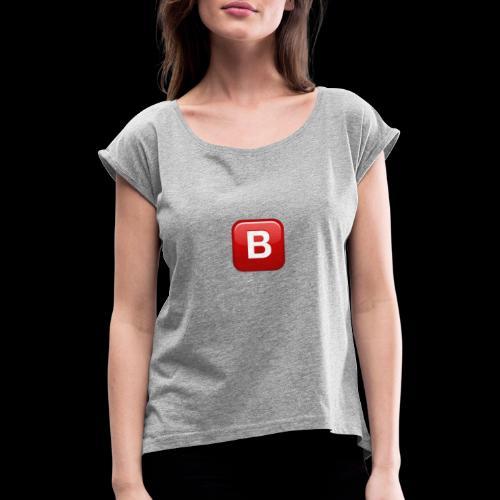 ios emoji negative squared latin capital letter b - Maglietta da donna con risvolti