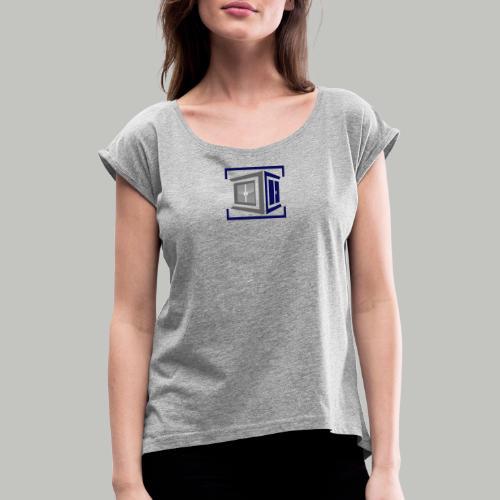 MBuST_2x 2020 (bitte max. 40°/verkehrt waschen) - Frauen T-Shirt mit gerollten Ärmeln