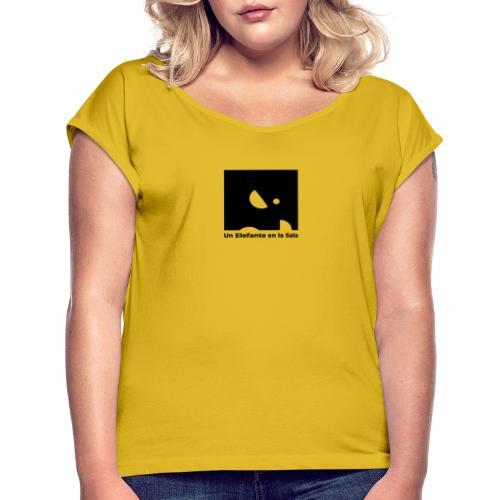 Logo Elefante Negro - Camiseta con manga enrollada mujer