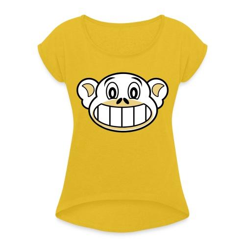 monkey - Vrouwen T-shirt met opgerolde mouwen