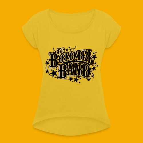 bb logo - Vrouwen T-shirt met opgerolde mouwen