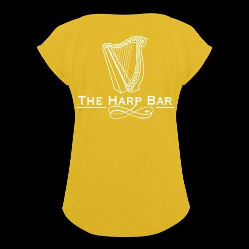 Logo The Harp Bar Paris - T-shirt à manches retroussées Femme
