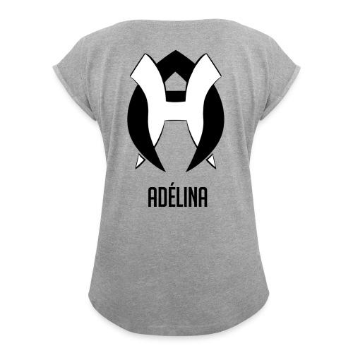 adelinabw - T-shirt à manches retroussées Femme