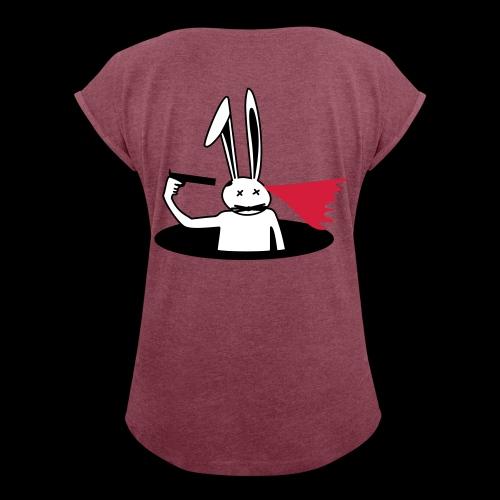 suicideBunny - Frauen T-Shirt mit gerollten Ärmeln