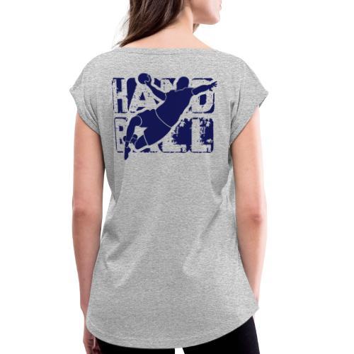 HANDN - T-shirt à manches retroussées Femme