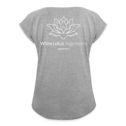 Jacket White Lotus Yoga Verein - Frauen T-Shirt mit gerollten Ärmeln