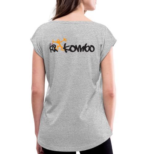 Logo Käkombo - Frauen T-Shirt mit gerollten Ärmeln