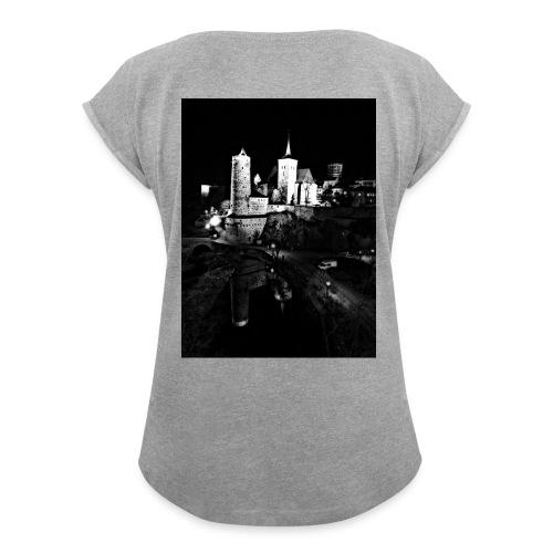 Bautzen - Frauen T-Shirt mit gerollten Ärmeln
