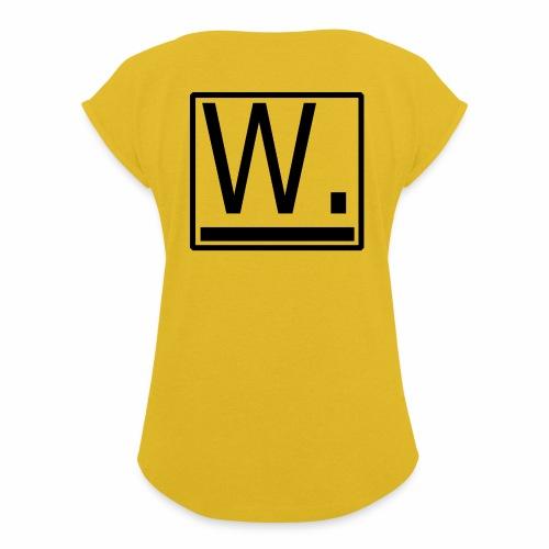 W. - Vrouwen T-shirt met opgerolde mouwen