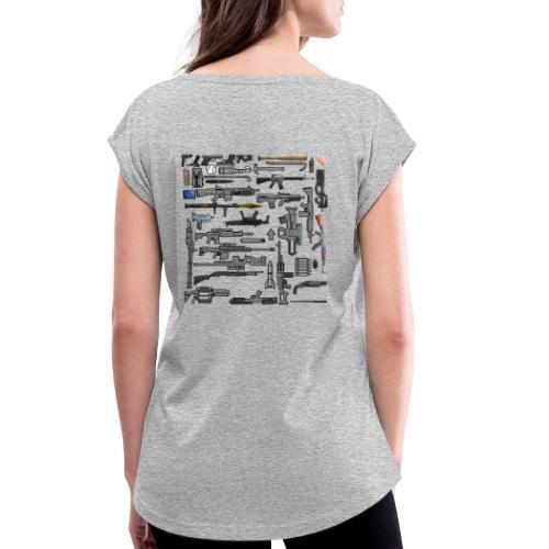 weapons all - T-shirt à manches retroussées Femme