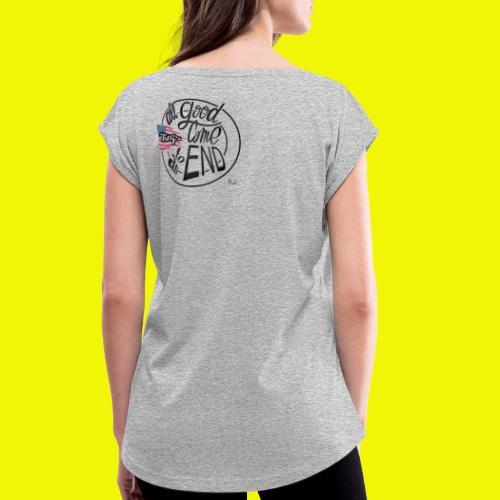 Usa - T-shirt à manches retroussées Femme