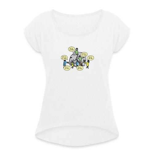 Upphandlingsdilemmat - T-shirt med upprullade ärmar dam