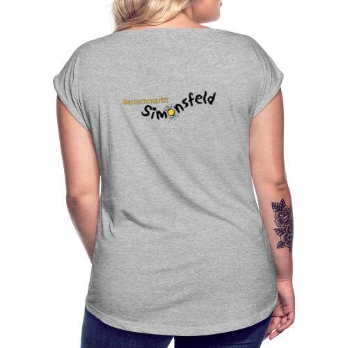 bauernmarkt_simonsfeld - Frauen T-Shirt mit gerollten Ärmeln