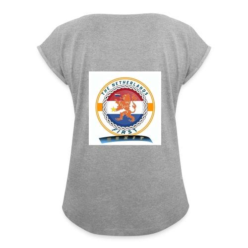 RF - Vrouwen T-shirt met opgerolde mouwen