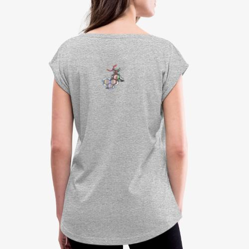 lsd chemical acid - Frauen T-Shirt mit gerollten Ärmeln
