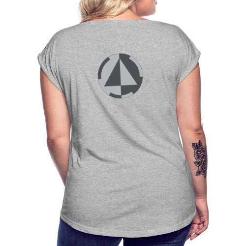 Previval Logo - Frauen T-Shirt mit gerollten Ärmeln