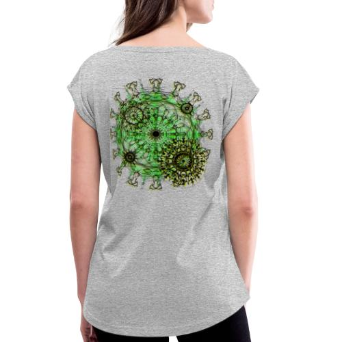Virus 150220 ds. A - Women's T-Shirt with rolled up sleeves