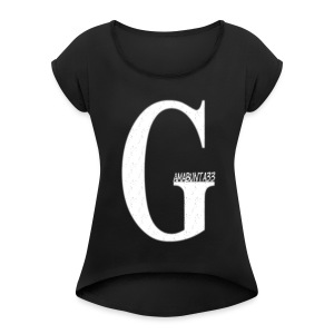 Gamabunta33text2 - Women's T-shirt with rolled up sleeves