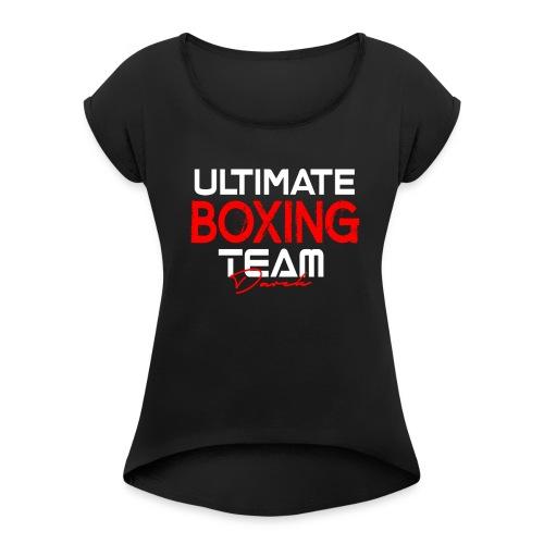 Ultimate Boxing Schwarz - Frauen T-Shirt mit gerollten Ärmeln