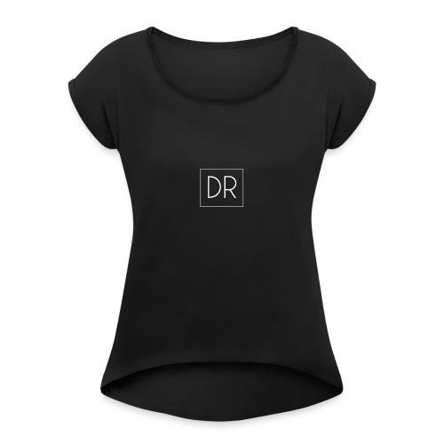 DR shirt dames - Vrouwen T-shirt met opgerolde mouwen