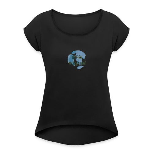 imageedit_1_4013833526 - Frauen T-Shirt mit gerollten Ärmeln