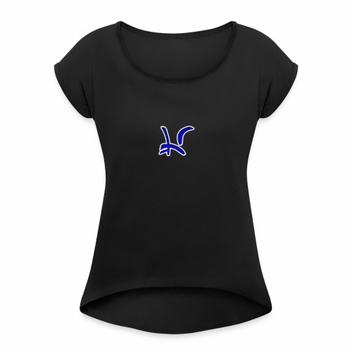 LightningStrikerr - Women's T-Shirt with rolled up sleeves
