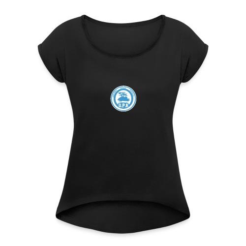 Logo de Policía de Realiacity - Camiseta con manga enrollada mujer