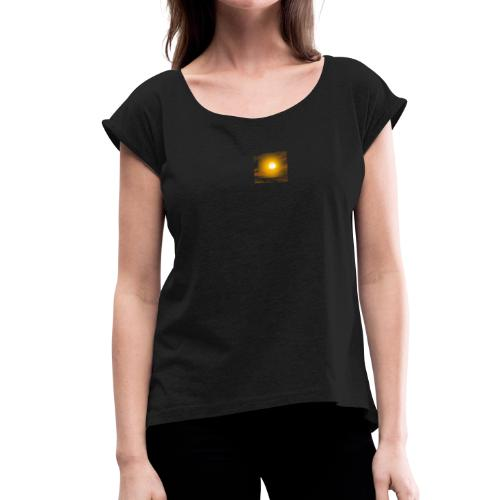 soleil tee shirt - T-shirt à manches retroussées Femme