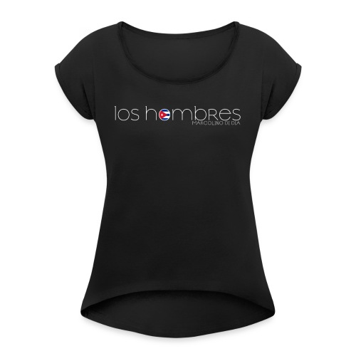 LOS HOMBRES BIANCO - Maglietta da donna con risvolti