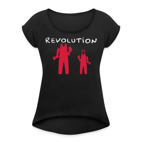 Revolution Time Again 2 - T-shirt à manches retroussées Femme