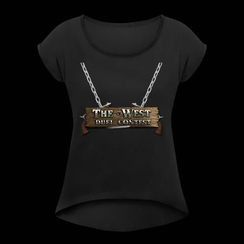 CoBF The west - Frauen T-Shirt mit gerollten Ärmeln