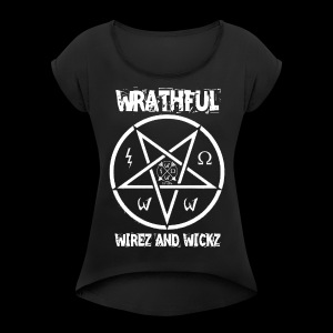 Wrathful Wirez PentaWrath - Women's T-shirt with rolled up sleeves