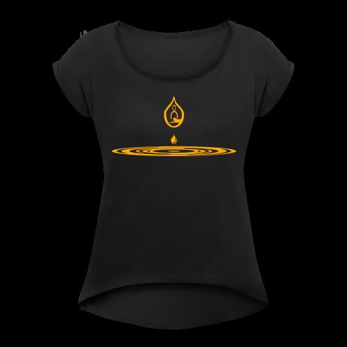 Zen-massage Logo-Design - Women's T-Shirt with rolled up sleeves