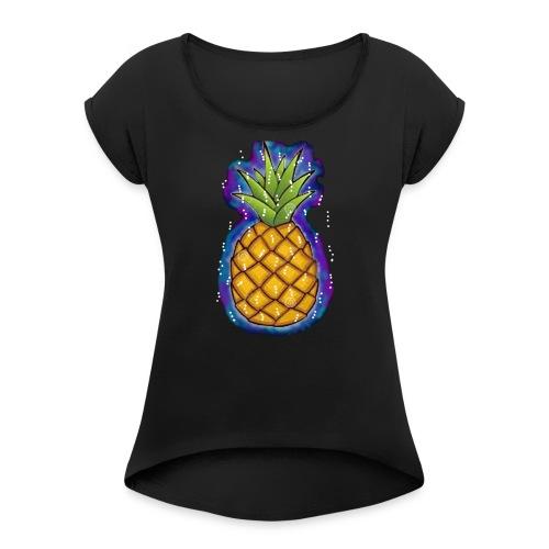 Sayanas - Frauen T-Shirt mit gerollten Ärmeln