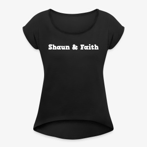 Shaun & Faith - Branded - Women's T-shirt with rolled up sleeves