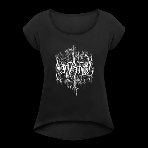 Mortaryon Logo - Women's T-Shirt with rolled up sleeves