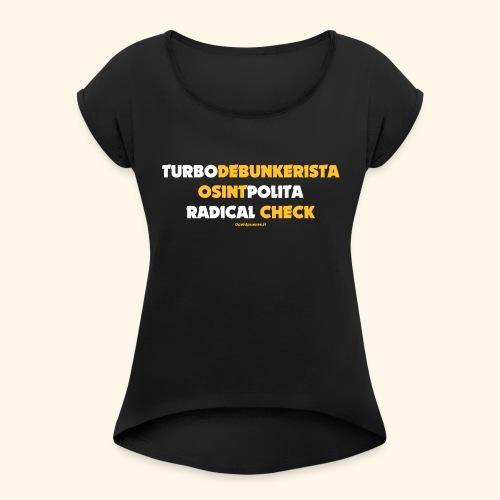 Turbodebunker - Maglietta da donna con risvolti