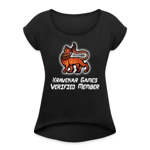Kravenar Games - Women's T-shirt with rolled up sleeves