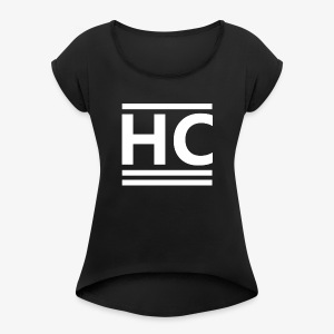 White Horizon Clothing Logo - Women's T-shirt with rolled up sleeves