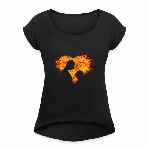 T'shirt amour inséparable - T-shirt à manches retroussées Femme
