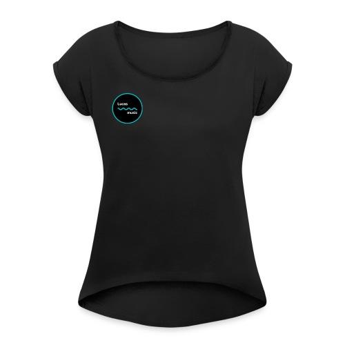 Lucas_music logo - T-shirt med upprullade ärmar dam