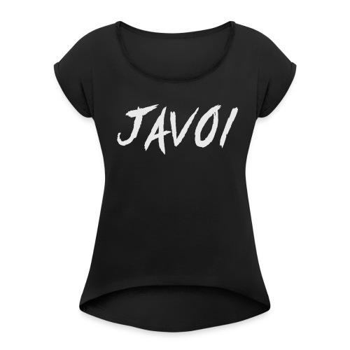 JAVOI graffiti text - Women's T-shirt with rolled up sleeves