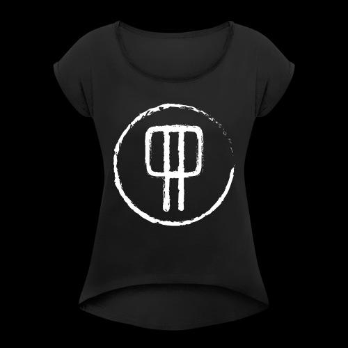 P P. PolskiPies. - T-shirt med upprullade ärmar dam