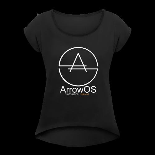 ArrowOS - Frauen T-Shirt mit gerollten Ärmeln