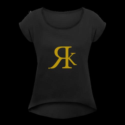 ReKreation. Gold - Frauen T-Shirt mit gerollten Ärmeln
